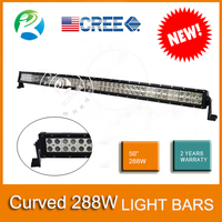 New products 50 inch Cree 288W Dual Row led light bars for trucks popular on SEMA