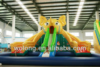 kids Elephant inflatable slide, inflatable water slide