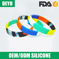 Best quality clear logo custom wristbands silicone bracelets