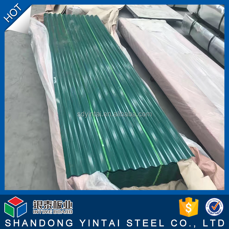 HOT DIP color coated roof tile for steel structure house zinc corrugated gi steel sheet
