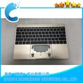 "Original Topcase with keyboard For Macbook Pro Retina 12"" A1534  Year 2016 Gold color US layout keyboard"