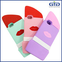 [NP-2689] Silicone Protective Cover with Lipstick Shape for iphone 6, Silicone Lipstick case for iphone 6