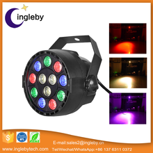 music control strobe light led stage light 12pcs 12w rgbaw uv 6 in 1 led par wash light