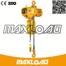 New Portable Small 3 Phase Motor 1Ton Durable Crane Electric Trolley Construction Lift Machine 0.5T Electric Chain Hoists