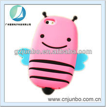 Lovely Cartoon 3D Bee Soft Silicone Skin Cover Case for iPhone 5S