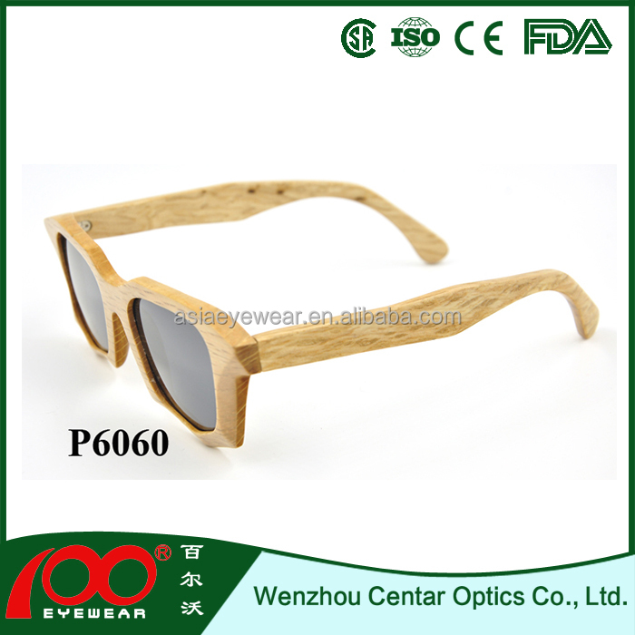 2016 Hot sale low price wood frame sunglasses promotion new design wood sunglasses
