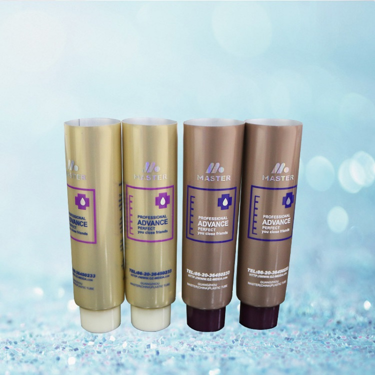 Aluminum /laminated plastic tube metal cosmetic packaging tube