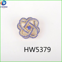 China supplier rhinestone crystal ornaments for shoes buckle
