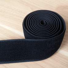 Cheap black elastic bias webbing tape woven stretch webbing for clothing garment