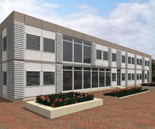 prefabricated steel structural school building design prefab 3 storey office building