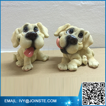 Kids resin animal toys lovely puppy statue resin figurines