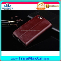 Hot selling new arrival leather flip cover case for iphone6 with credit card slots
