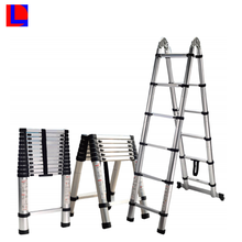 Loading Heavy Duty Adjustable Length Portable Ladder Aluminum Telescopic Bamboo Ladder