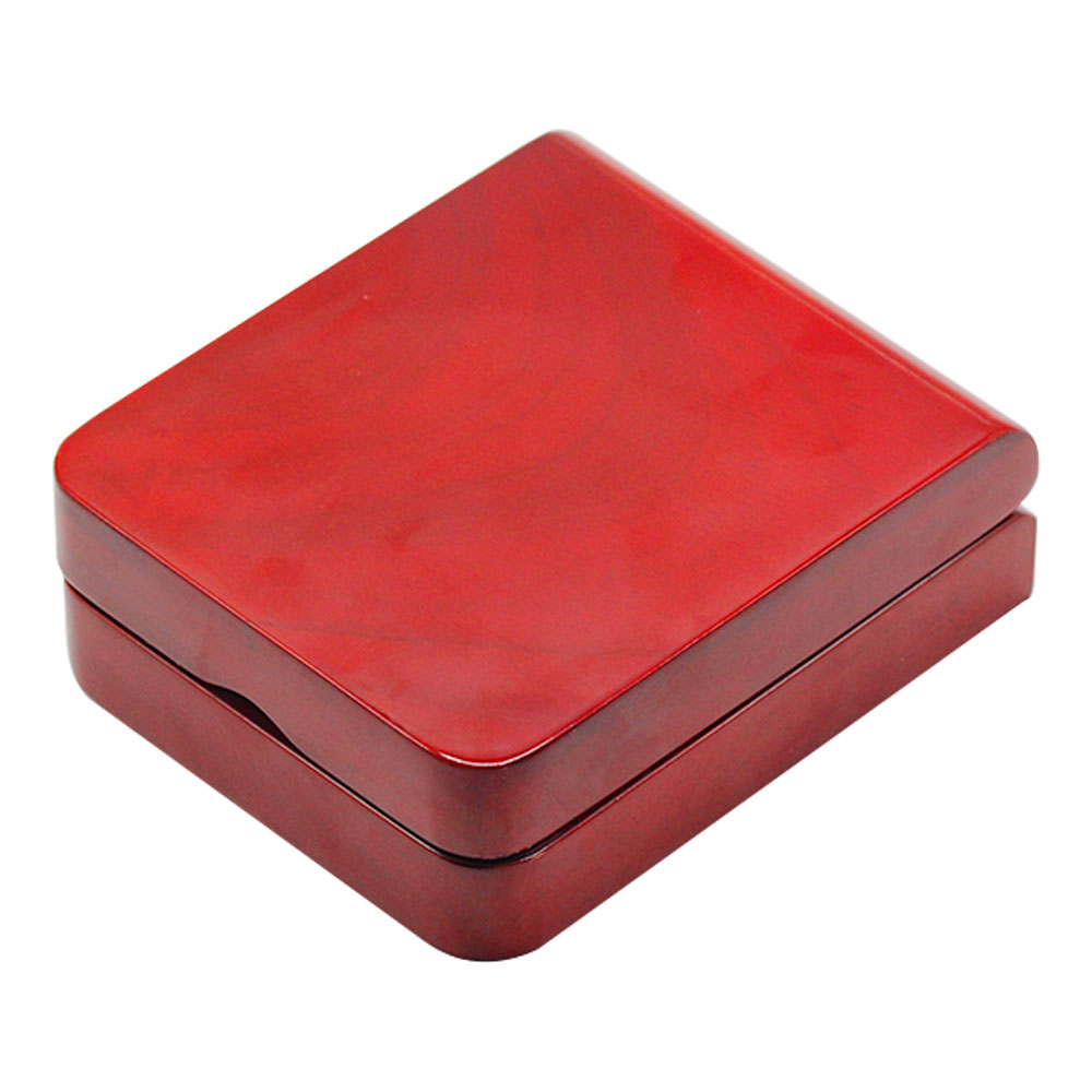 luxury ring gift case packaging red lacquer wooden box for watches