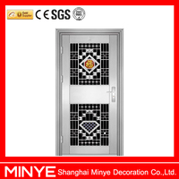 fancy security design aluminum anti-theft entry door