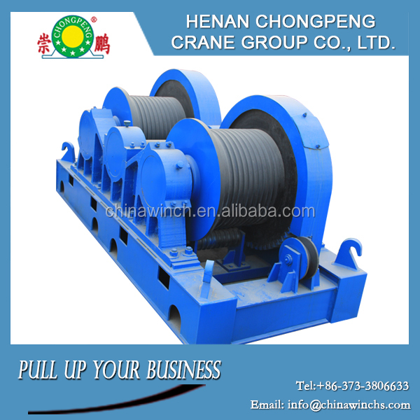 Factory made two driving drums heavy electric winch