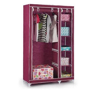 portable v tements tag re de rangement facile assembl en plastique placard avec fermeture. Black Bedroom Furniture Sets. Home Design Ideas