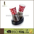 Aluminum cap ceramic grinder 2 in 1 Spotty spice grinder set with adjustable lid