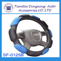 China Promotional gift with PU leather suede material fashion car steering wheel covers for winter