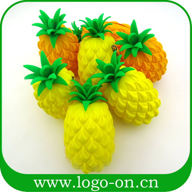 Best Custom Wholesale Pineapple Shape Silicone Ladies Purse For Sale