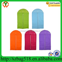 Non woven suit cover garment bag for cloths packaging