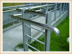 Stainless steel iron hospital corridor disabled handrail