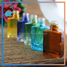 colorful 30ml square glass dropper bottle, child proof glass dropper bottle can be costomized by you