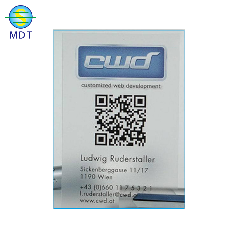 Plastic Pvc Barcode Business Card With Wechat Or Code Icd - Buy ...