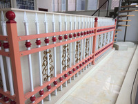 Ornamental zinc steel fence, cheap wholesale galvanzied used wrought iron fencing for sale/combination to garden fence