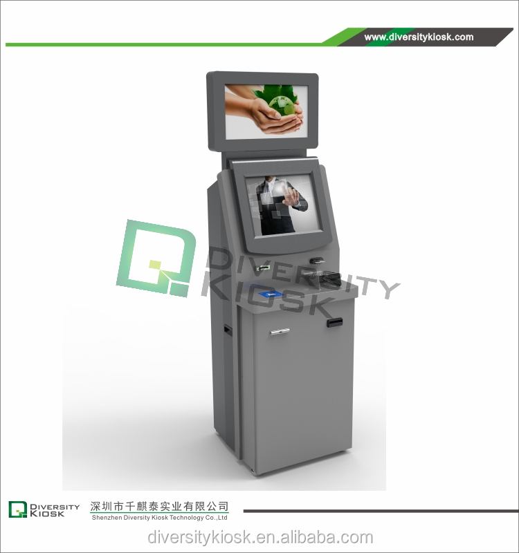 17'' resistive information touch screen kiosk atm booth