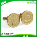 Gold Head Coin Cuff Links