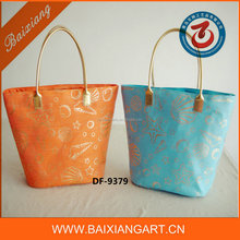 Fashion paper straw tote bags/Wholesale pvc handle straw bags