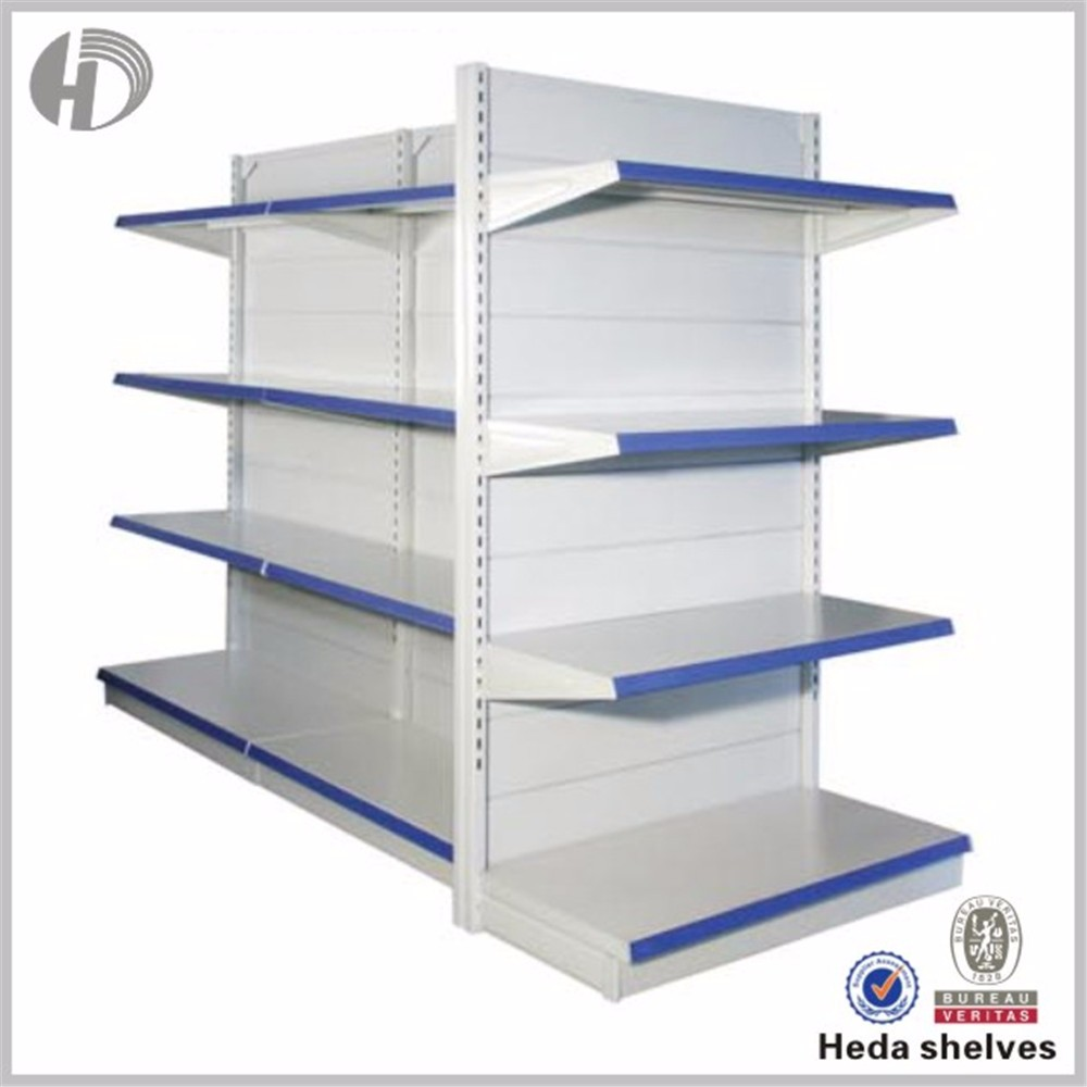 supermarket gondola shelving units