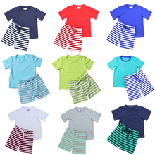 2018 new summer organic cotton knitted boy sets wear caters newborn girls boy cute cheap Baby Clothes