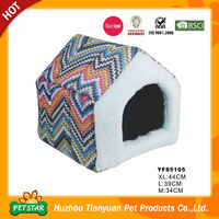 Discount!!! Promotional Factory Direct Comfortable Ripple Design Soft Novelty Dog House