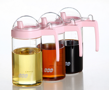 Lead free glass sesame oil vinegar pot seasoning bottle