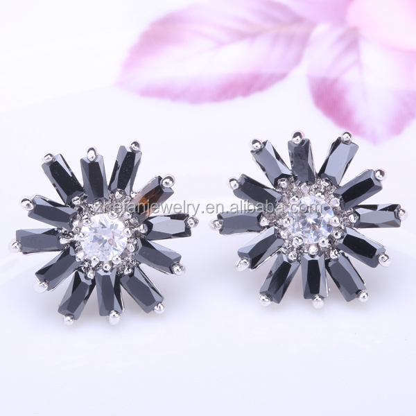 Crystal Diamond Men Ear Studs Screw Back Earrings