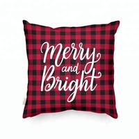 Wholesale Sofa Throw Custom Design Printed Merry Christmas Pillow