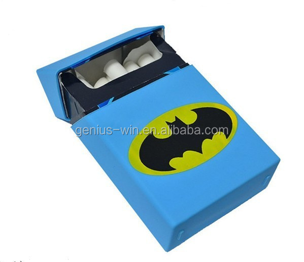 Bat Man Silicone Cigarette Case Tobacco Storage Pocket Box Holder Silicone Blank Cigarette Pack Holders