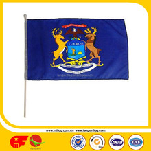 Good quality Promotional Hot Sale Polyester National Qatar Hand Flag