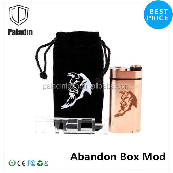 Best price Abaddon 1:1 mechanical box mod clone dual 18650 battery