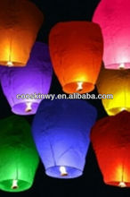 Colorful and hot biodegradable luminary sky lantern