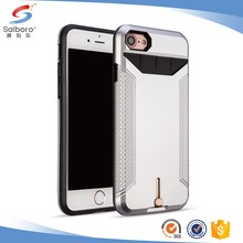 Customized plug-in card TPU+PC cellphone case for iPhone 7