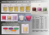 Indoor fragranced glasses and alu candles