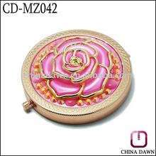 2012 Newest wholesale Pink Rose Hand Mirror CD-MZ042