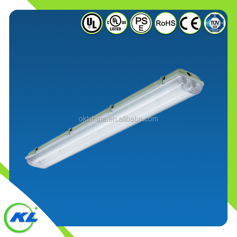 2'4' IP65 Led Tri-proof lighting fixtures UL listed weatherproof fluorescent lighting