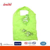 Eco-friendly High Capacity Folding Shopping Bag with Shaped Pouch