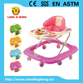 european standard musical and flashing baby walker 2017new with lovely deer face