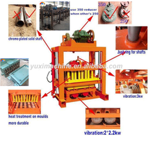 Concrete block and brick industry 4-40 brick machinery