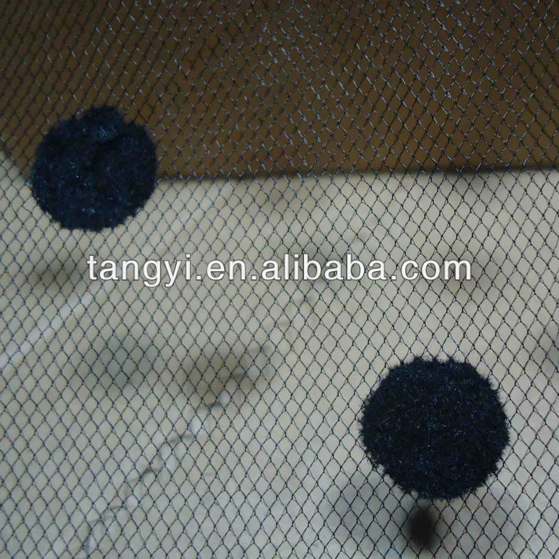 big round dot american net fabric
